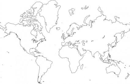 Clipart of world map png transparent download World Map Clipart - Clipart Kid png transparent download