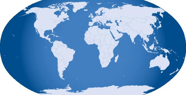 Clipart of world map clipart transparent download Blue World Map Clip Art at Clker.com - vector clip art online ... clipart transparent download