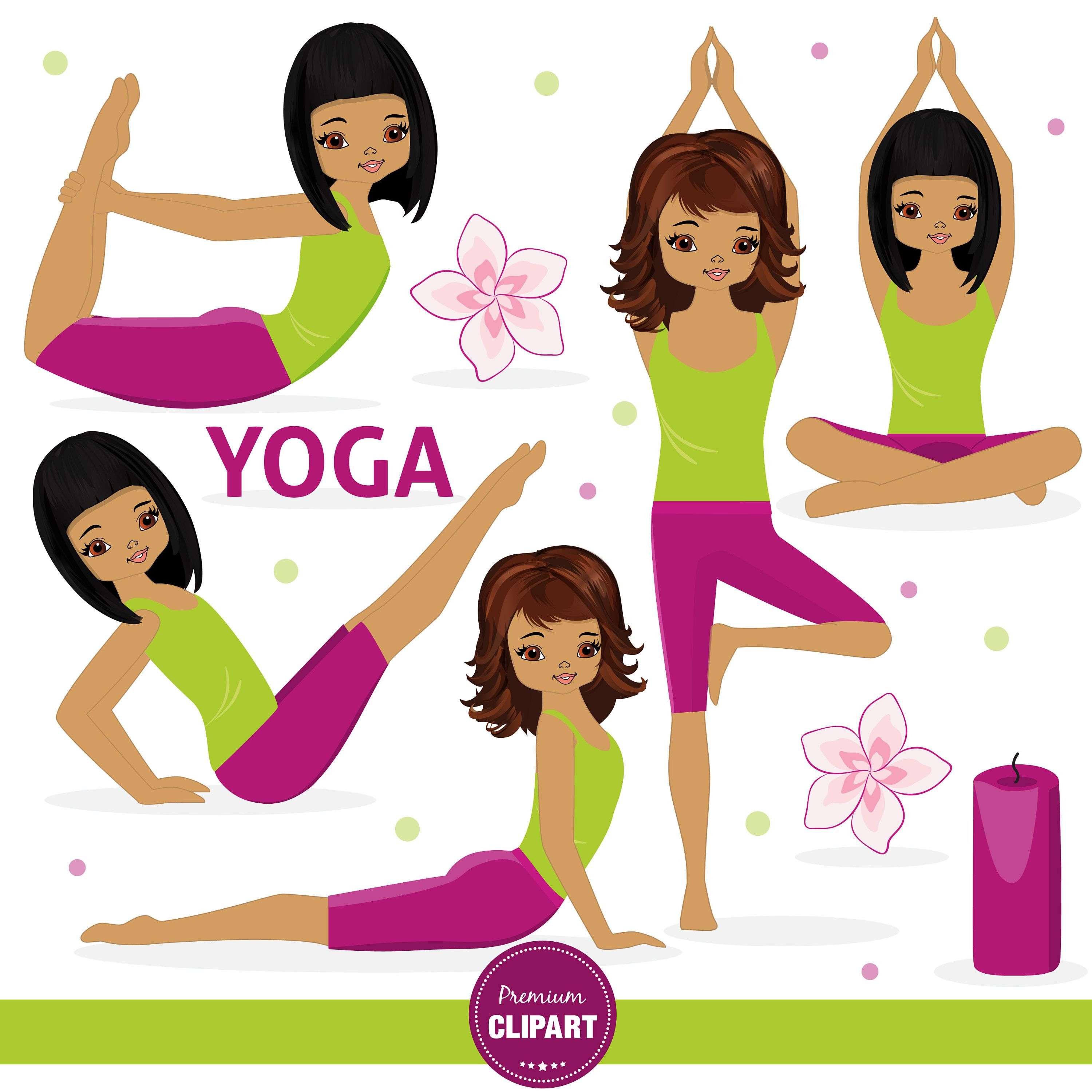Yoga clipart clip library download African American Yoga clipart, Yoga images, Girl clipart, Yoga ... clip library download