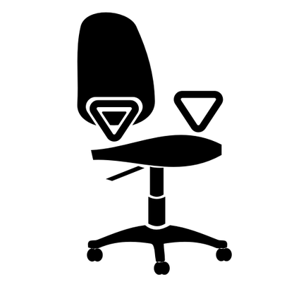 Office chair clipart image svg black and white library Free Office chair Clipart and Vector Graphics - Clipart.me svg black and white library