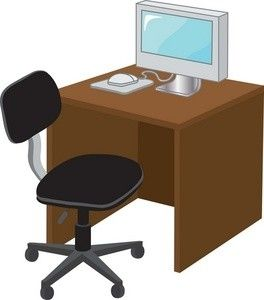 Office furniture clipart free picture Free Desk Clipart Image 0071-0908-1917-4535 | Furniture Clipart ... picture