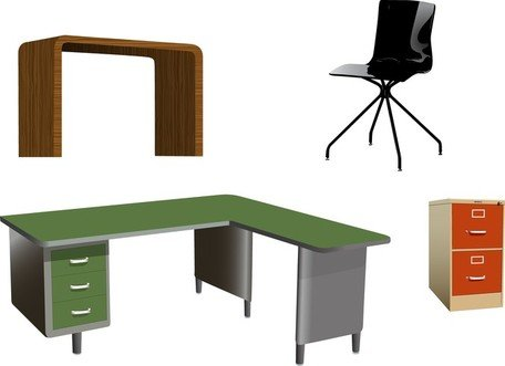 Clipart office furniture image black and white library Free Office Furniture Vectors Clipart and Vector Graphics - Clipart.me image black and white library