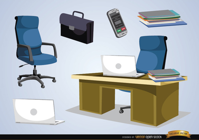 Clipart office furniture banner Office furniture and objects | Clipart Panda - Free Clipart Images banner