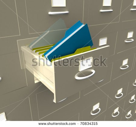 Clipart office open binder filled with paper