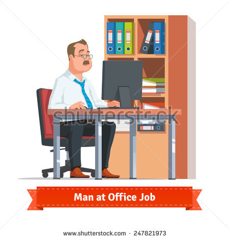 Clipart office open binder filled with paper banner free Behind Desk Stock Images, Royalty-Free Images & Vectors | Shutterstock banner free