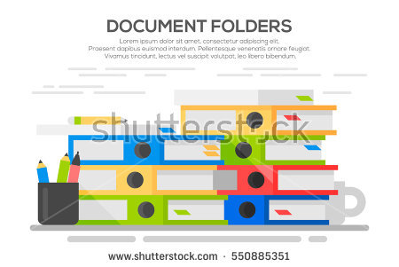Clipart office open binder filled with paper clip library download Office Equipment Stock Images, Royalty-Free Images & Vectors ... clip library download