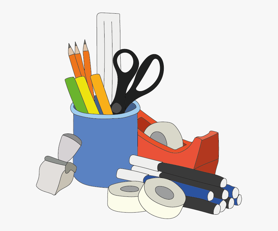 Clipart office supplies banner royalty free library Office Supplies Clipart Png - Office Supplies Free Clipart #38865 ... banner royalty free library
