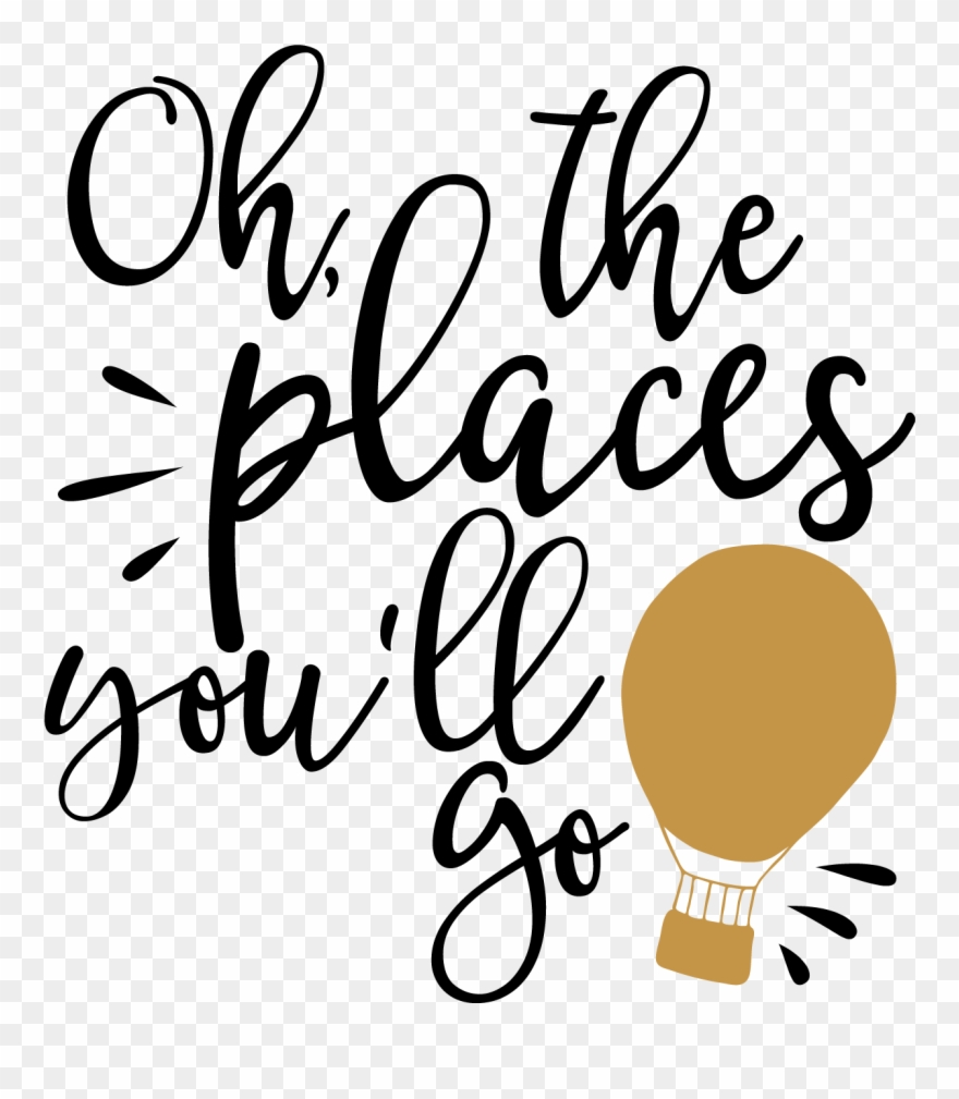 Clipart ohh vector freeuse library Free Silhouette Fonts At Getdrawings - Oh The Places You Ll Go Svg ... vector freeuse library