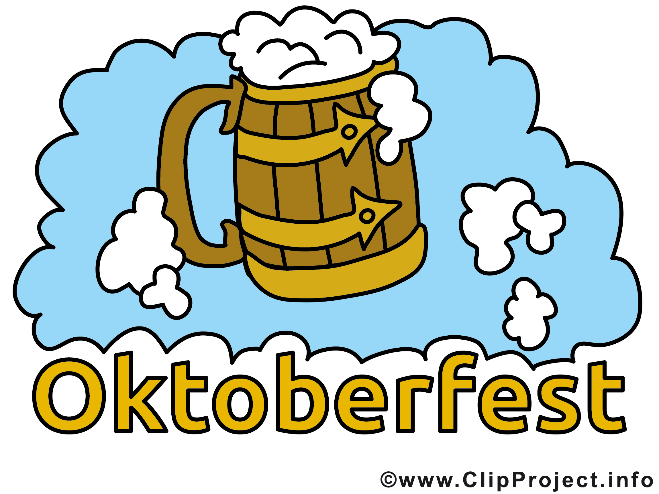 Oktoberfest Bilder, Cliparts, Cartoons, Grafiken, Illustrationen ... banner black and white