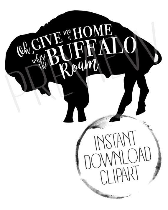 Clipart old time mom working black and white clipart freeuse stock Buffalo Clipart, Buffalo Bison | All-Time Best Pins | Give it to me ... clipart freeuse stock