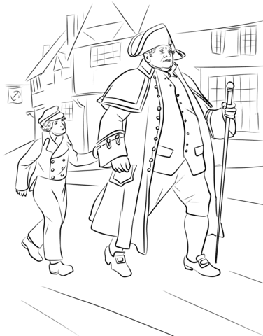Clipart oliver twist clip library Mr. Bumble and Oliver Twist coloring page | Free Printable Coloring ... clip library