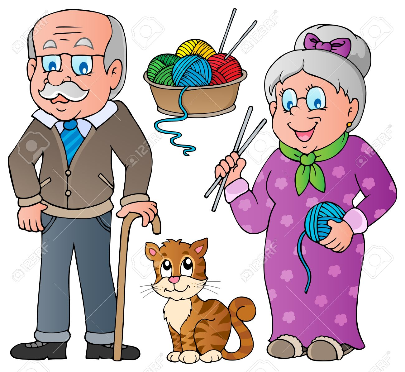 Clipart oma und opa banner Clipart opa im sessel - ClipartFox banner