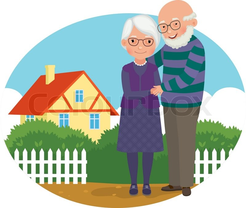 Clipart oma und opa freeuse download Elderly couple | Stock Vector | Colourbox freeuse download