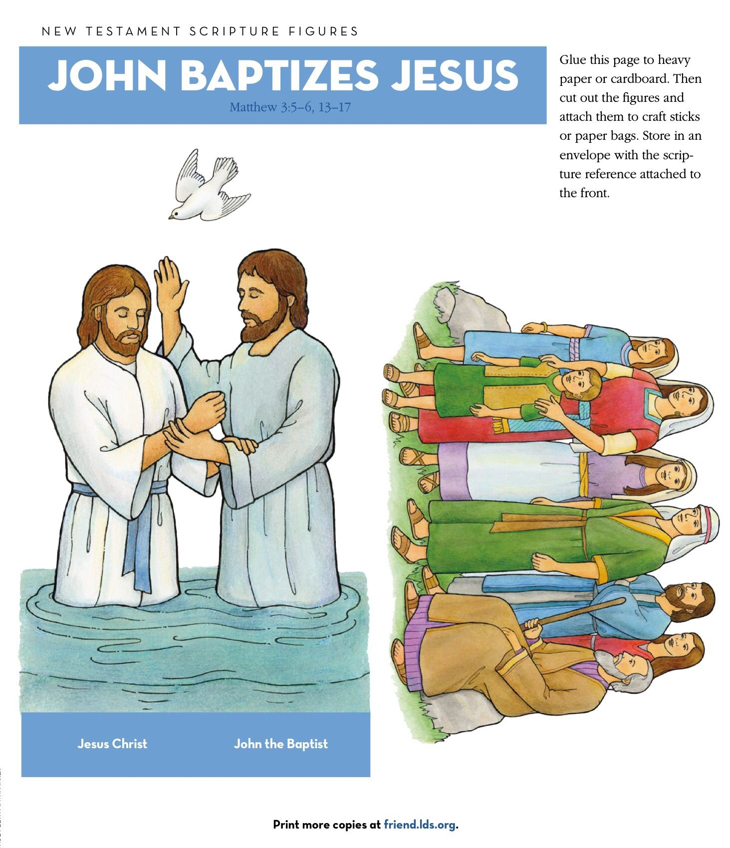 Clipart on jesus and john the baptist banner black and white library new testament LDS clip art | New Testament Archives - Teaching LDS ... banner black and white library