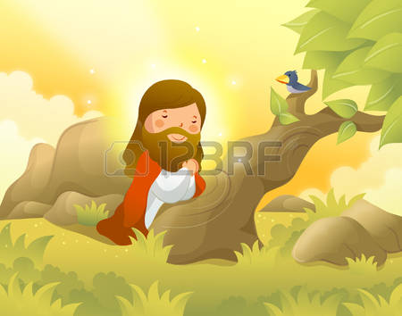 Clipart on jesus and john the baptist png Jesus Christ Kneeling And Praying Vector - 354*450 - Free Clipart ... png