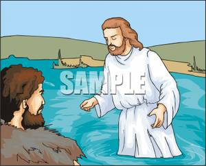 Clipart on jesus and john the baptist picture library stock Jesus and John the Baptist Clipart Image picture library stock
