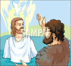 Clipart on jesus and john the baptist png free library Jesus Being Baptized By John The Baptist - Royalty Free Clipart Picture png free library