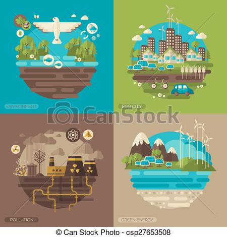 Clipart on save energy save environment svg transparent download Vector Clipart of Ecology, environment, green energy and pollution ... svg transparent download