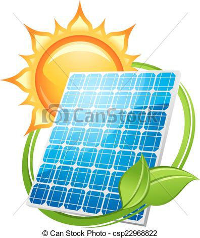 Clipart on save energy save environment picture black and white Vector Illustration of Solar energy and power concept to save the ... picture black and white