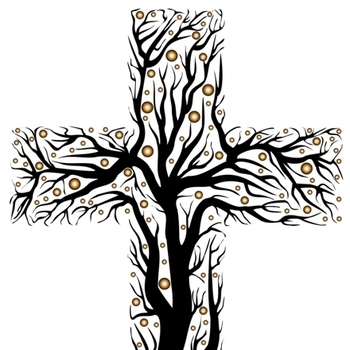 Clipart on tree fruit of knowledge and the cross graphic black and white Tree of Life - St. Edward the Confessor - Bowie, MD graphic black and white