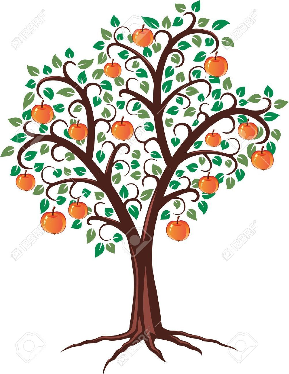 Clipart on tree fruit of knowledge and the cross png royalty free download Free tree with fruits and roots clipart | Aromatherapy | Tree ... png royalty free download