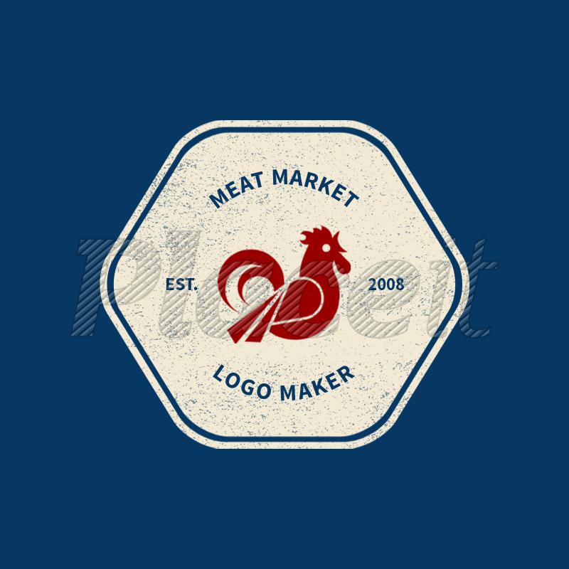 Clipart online maker banner library download Online Logo Maker for a Meat Market with Rooster Icon 1185e banner library download
