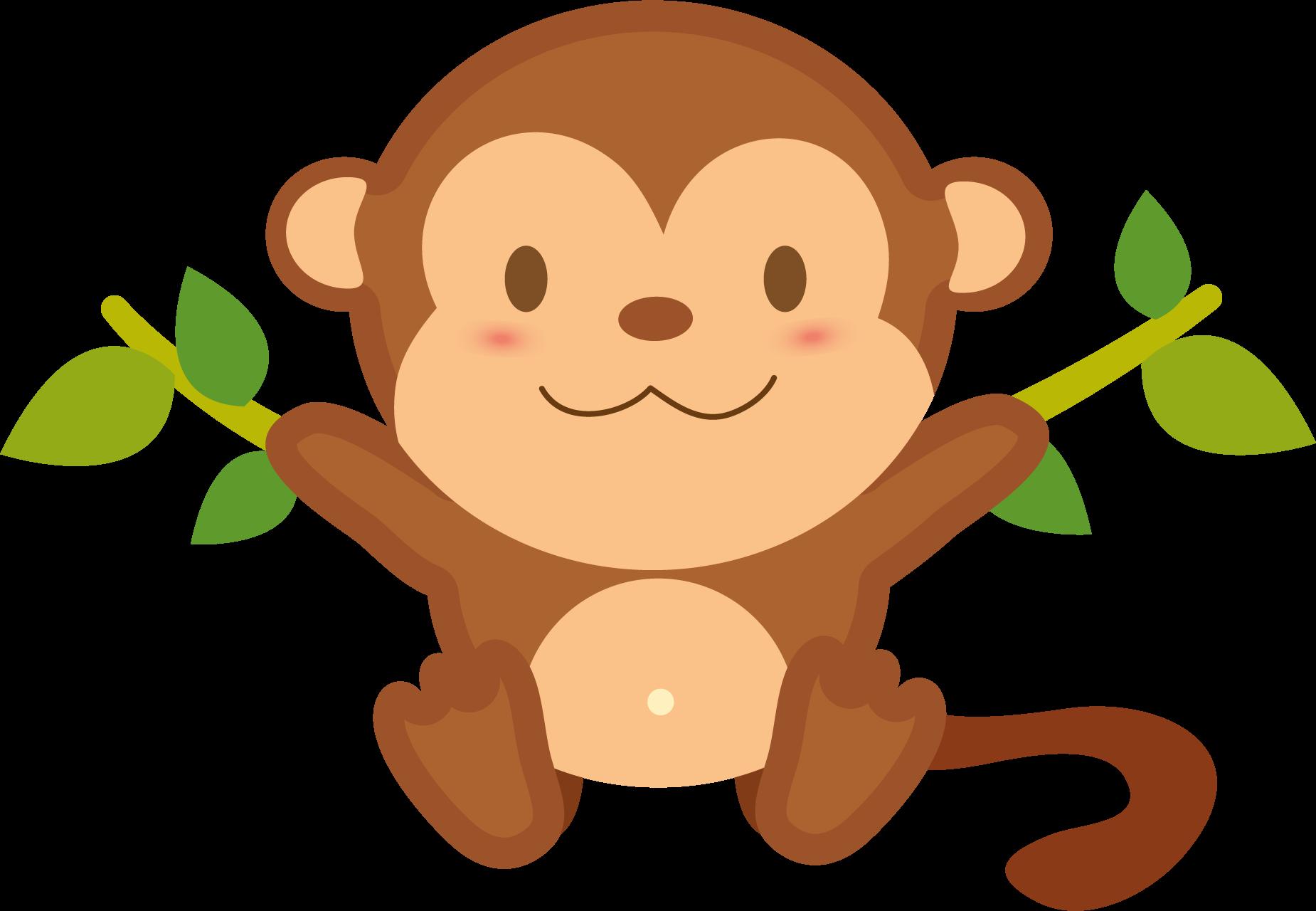 Clipart only vector transparent Monkey transparent free images only cliparts - ClipartPost vector transparent