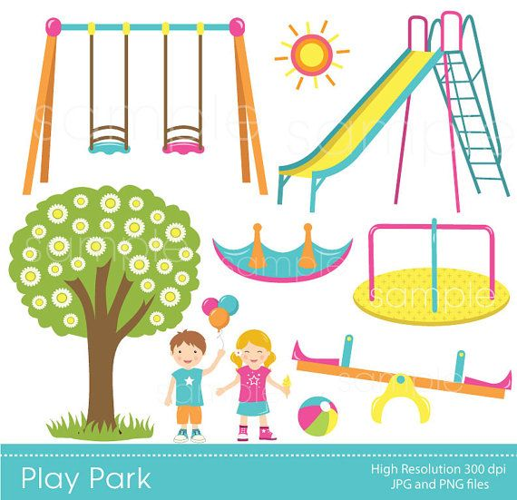 Clipart only image transparent stock Play Park Clipart Playground Clipart Swings by YelloWhaleDesigns ... image transparent stock