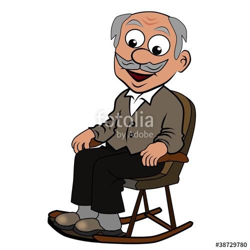 Clipart opa im sessel image royalty free download Bilder und Videos suchen: fernsehsessel image royalty free download
