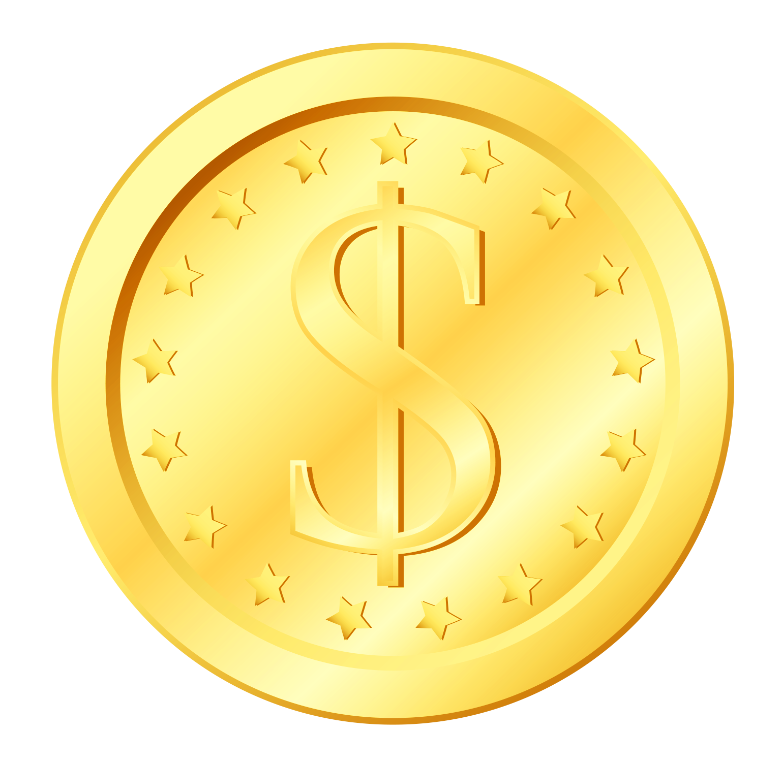 Gold Coin Transparent PNG Clipart | Gallery Yopriceville - High ... banner royalty free download