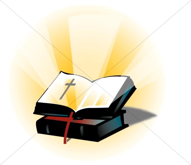 Clipart open bible clipart transparent download Open Bible on a Closed Bible | Bible Clipart clipart transparent download
