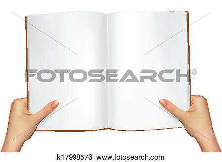 Clipart open book in hands vector transparent library Clip Art of Hands holding open book. Vector illustration k17998576 ... vector transparent library