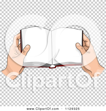 Clipart open book in hands image black and white download Cartoon Of Hands Holding An Open Book - Royalty Free Vector ... image black and white download