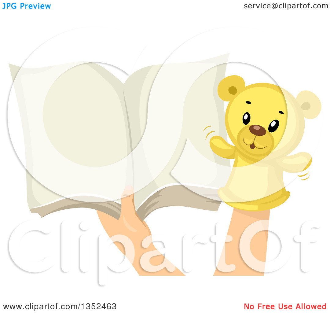 Clipart open book in hands png Clipart of Hands with a Teddy Bear Sock Puppet and an Open Book ... png