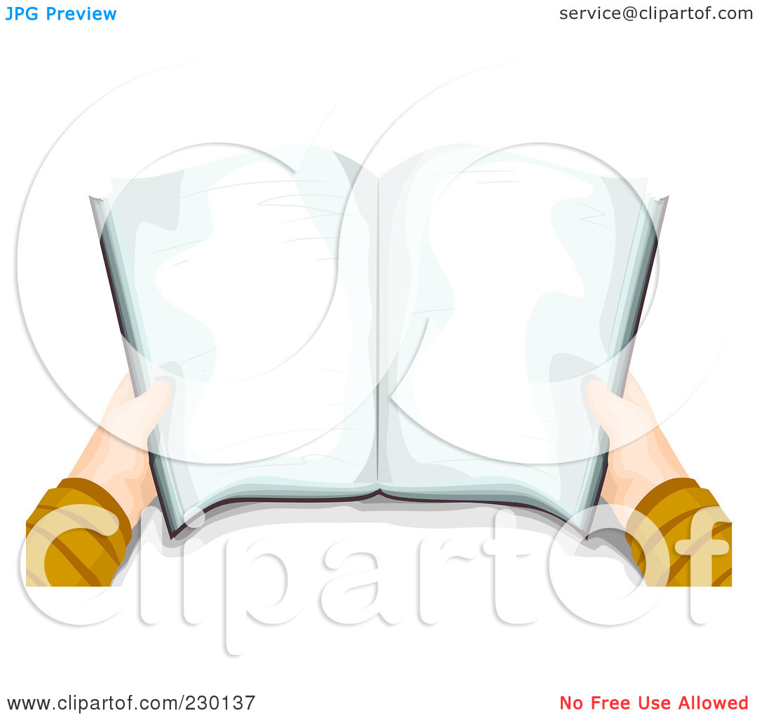 Clipart open book in hands clip download Royalty-Free (RF) Clipart Illustration of a Boy's Hands Holding A ... clip download