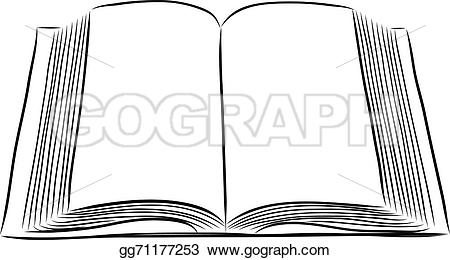 Clipart open book in hands black and white library Vector Stock - Open book hand draw. Stock Clip Art gg71177253 ... black and white library