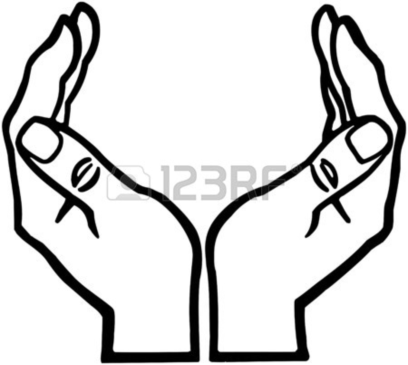 Clipart open hand clipart black and white Open Hands Clipart | Free download best Open Hands Clipart on ... clipart black and white