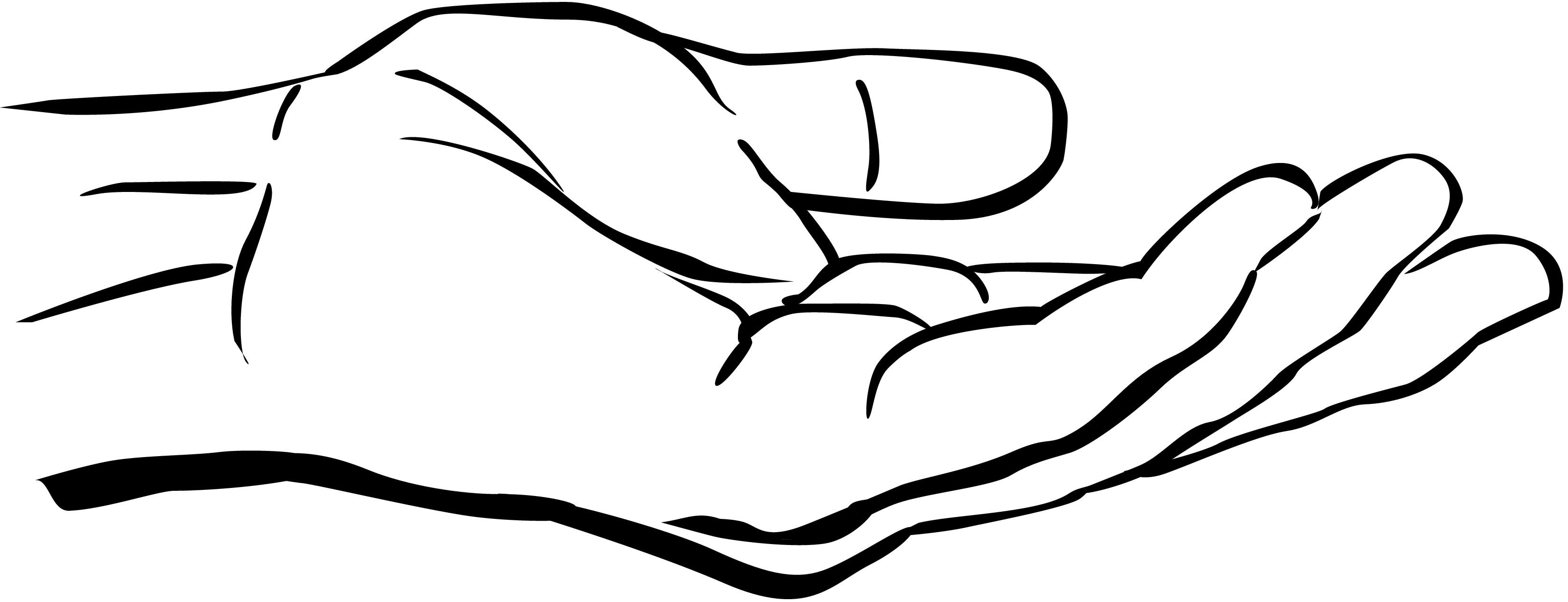 Hand reaching for something clipart