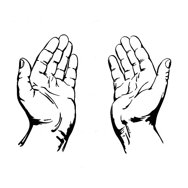 Clipart praying hands vector freeuse Free Open Hands Black And White, Download Free Clip Art, Free Clip ... vector freeuse