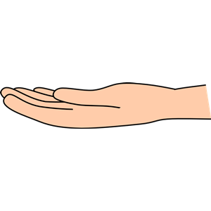 Clipart open hand jpg library library Open hand (light skin) clipart, cliparts of Open hand (light skin ... jpg library library