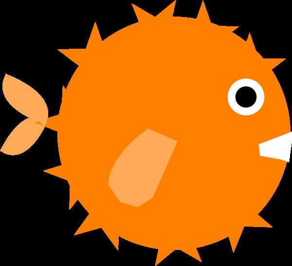 clipart orange fish #13