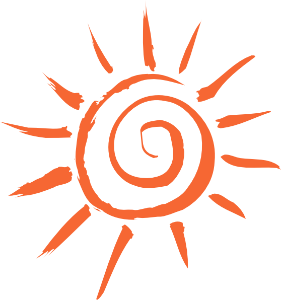 Clipart orange sun clipart royalty free library Orange Sun Clip Art at Clker.com - vector clip art online, royalty ... clipart royalty free library