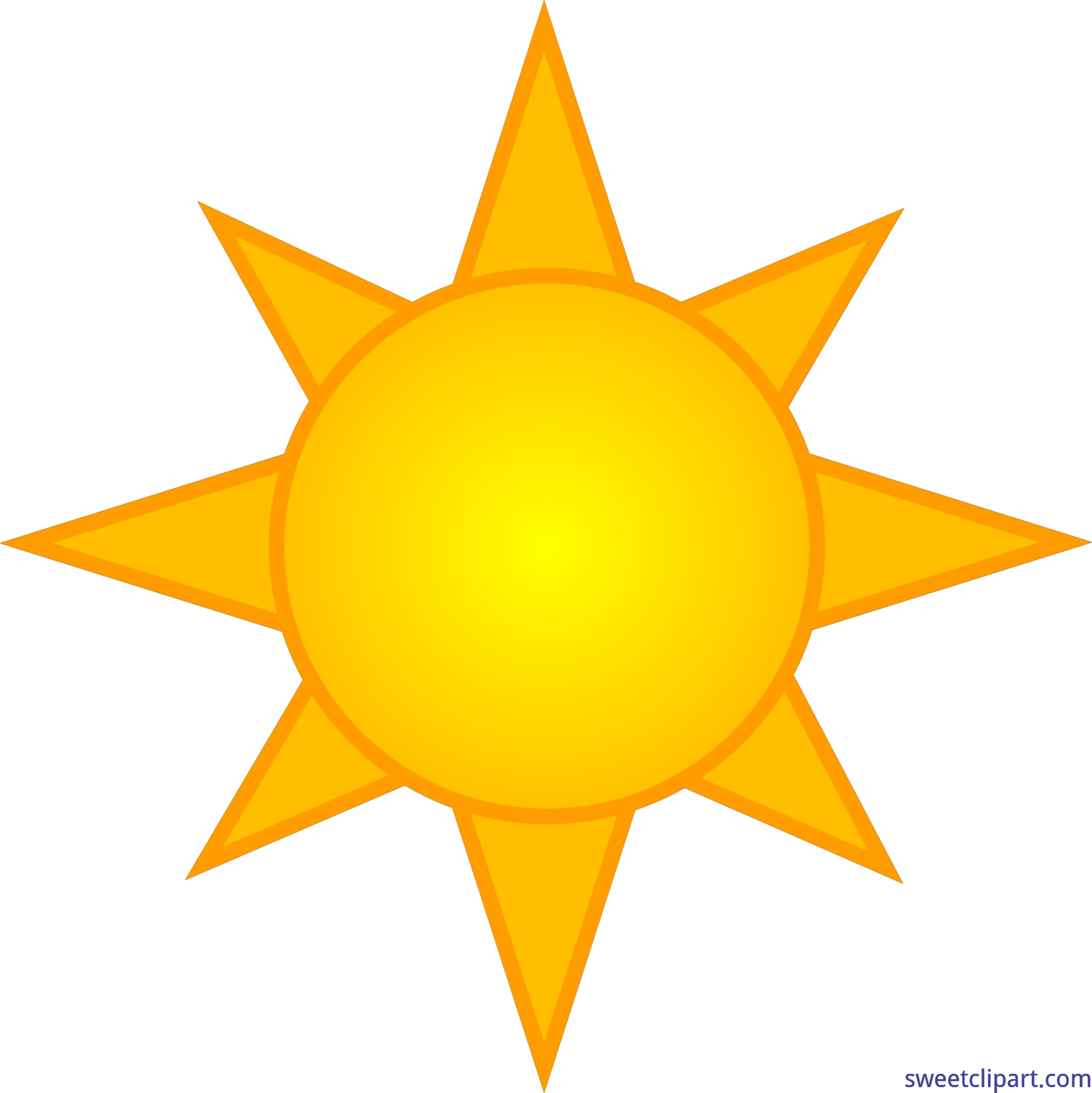 Sun picture clipart science graphic freeuse library Yellow Sun Symbol 6 Clip Art - Sweet Clip Art graphic freeuse library