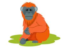 Orangutan clipart free vector freeuse stock Free Orangutan Clipart - Clip Art Pictures - Graphics - Illustrations vector freeuse stock