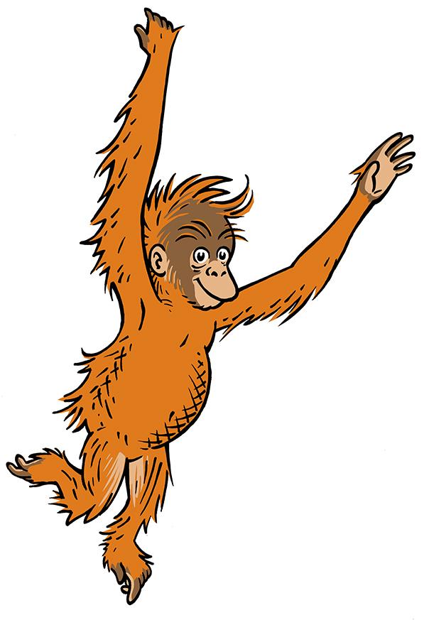 Orangutan clipart free graphic Free Cartoon Orangutan, Download Free Clip Art, Free Clip Art on ... graphic