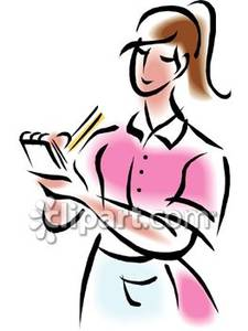 Clipart order picture download A Waitress Taking an Order | Clipart Panda - Free Clipart Images picture download