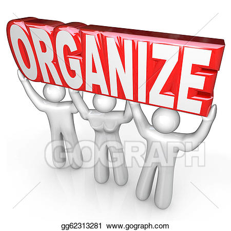 Clipart organize clipart black and white library Drawing - Organize people team lift word help you get organized ... clipart black and white library