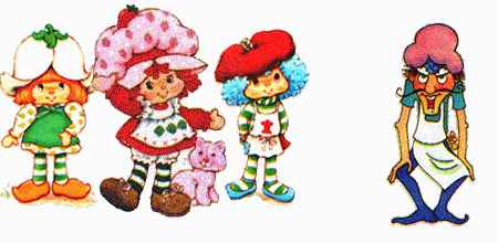 Clipart original strawberry shortcake and friends lime vector black and white download Strawberry Shortcake : Old Memories vector black and white download