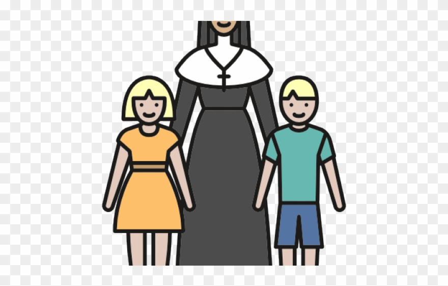 Clipart orphanage royalty free download Christian Clipart Nun - Orphanage Vector Png Transparent Png ... royalty free download