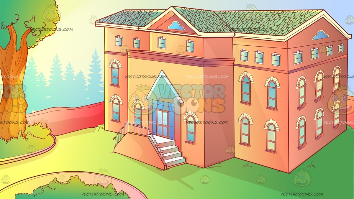 Clipart orphanage free stock The Exterior Of An Orphanage Background free stock